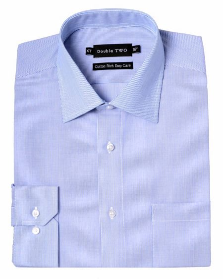 Double TWO Stripe Classic Collar Formal Shirt
