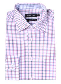 Double TWO Check Classic Fit Classic Collar Formal Shirt