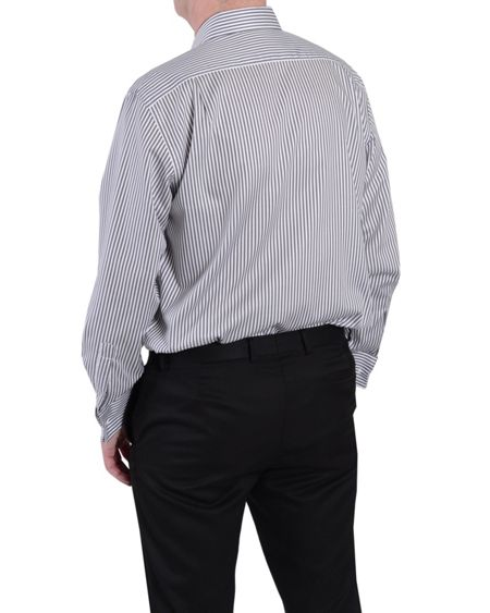 Double TWO Paradigm Long Sleeve Stripe Shirt