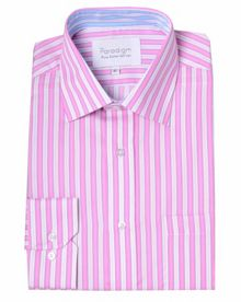 Double TWO Stripe Classic Fit Classic Collar Formal Shirt