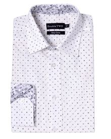 Double TWO Polka Dot Classic Fit Classic Collar Formal Shirt