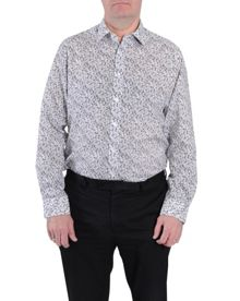 Double TWO Floral Classic Fit Classic Collar Formal Shirt