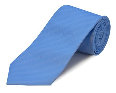 Double TWO Herringbone Self Stripe Polyester Tie