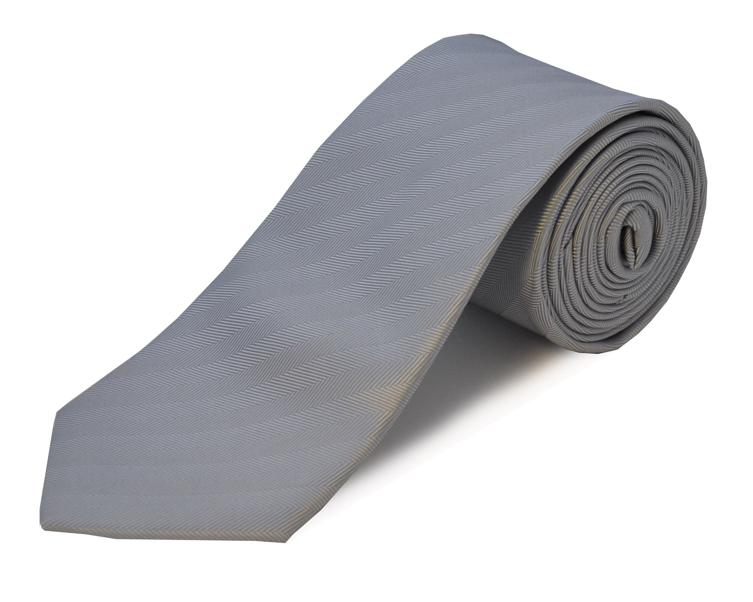Double Two Double TWO Extra Long Polyester Tie, Grey