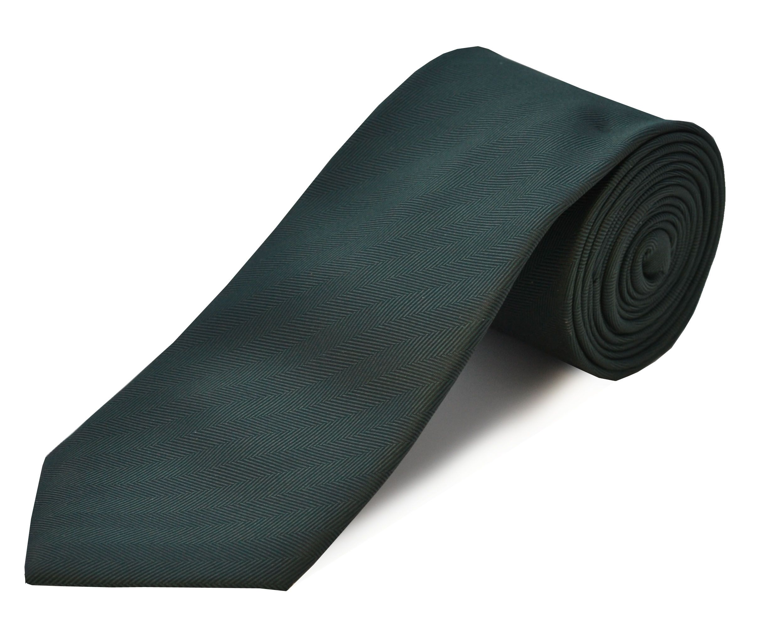 Double Two Double TWO Extra Long Polyester Tie, Green