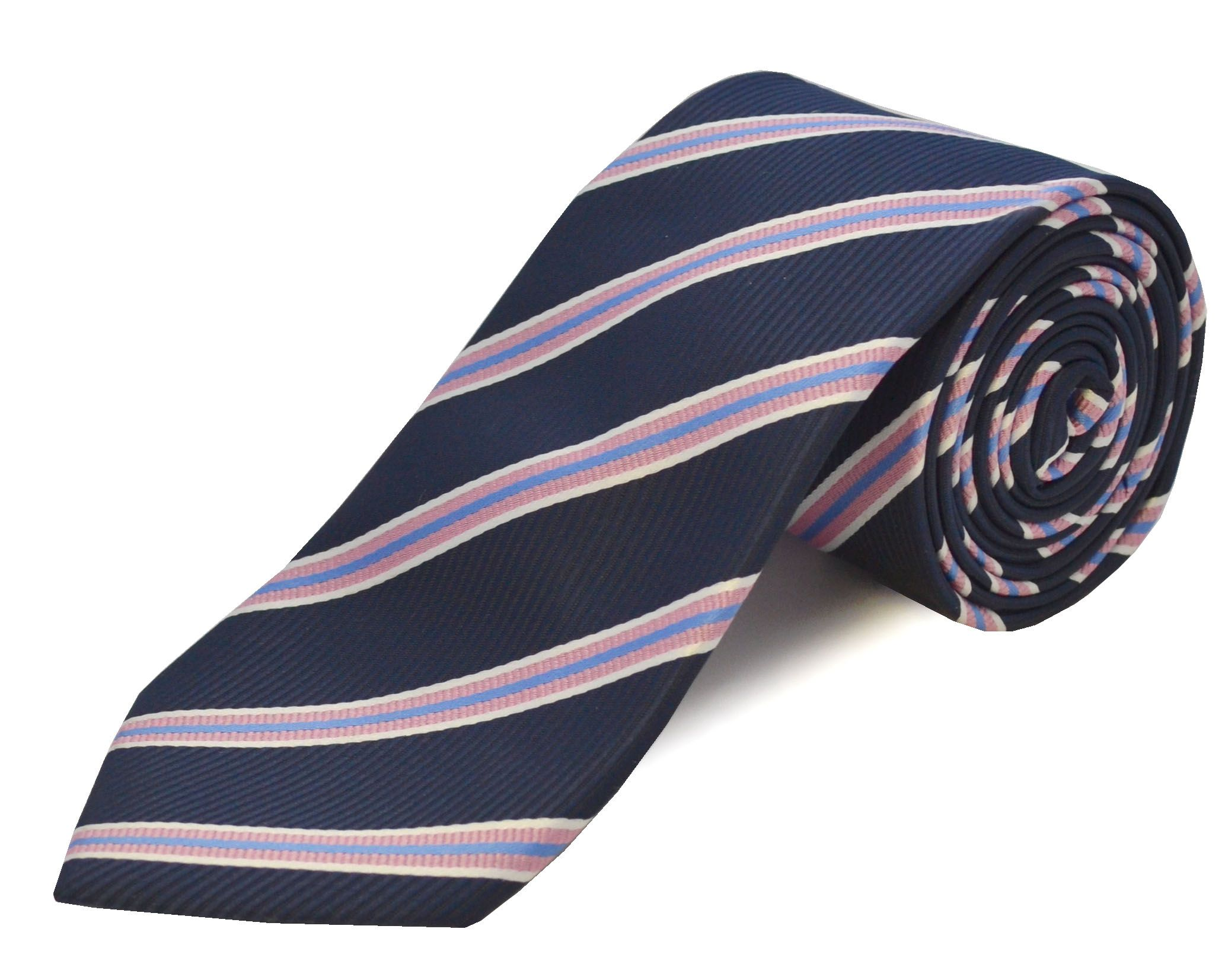 Double Two Double TWO Extra Long Polyester Tie, Pink
