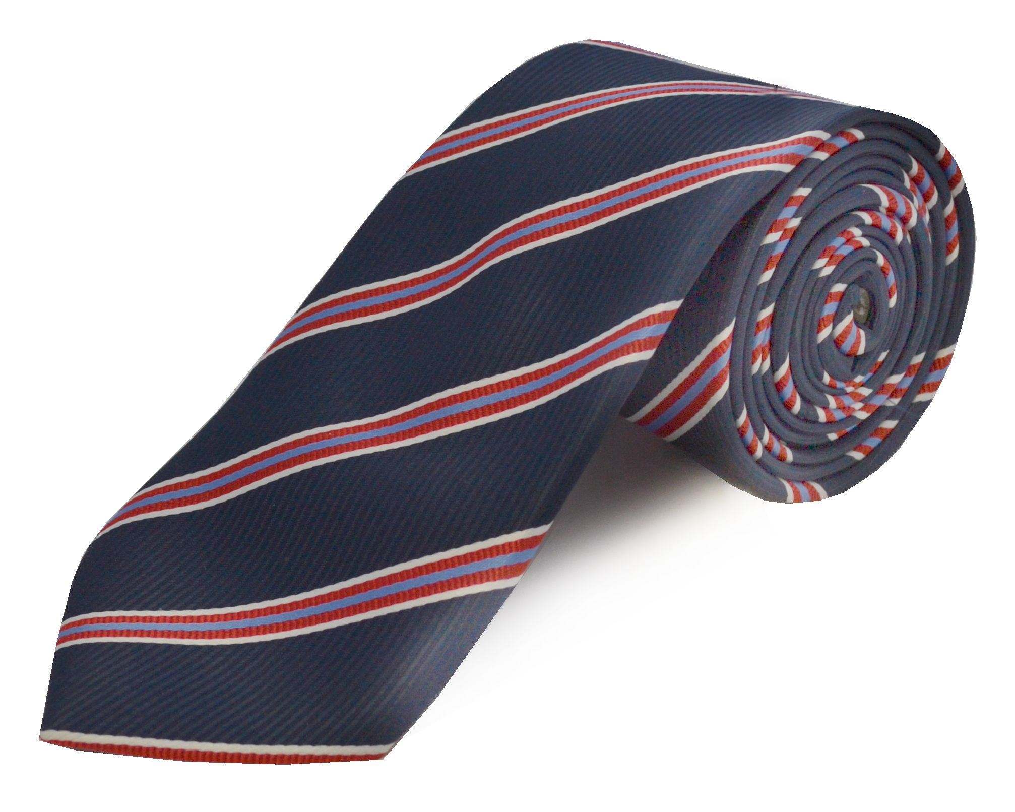 Double Two Double TWO Extra Long Polyester Tie, Red