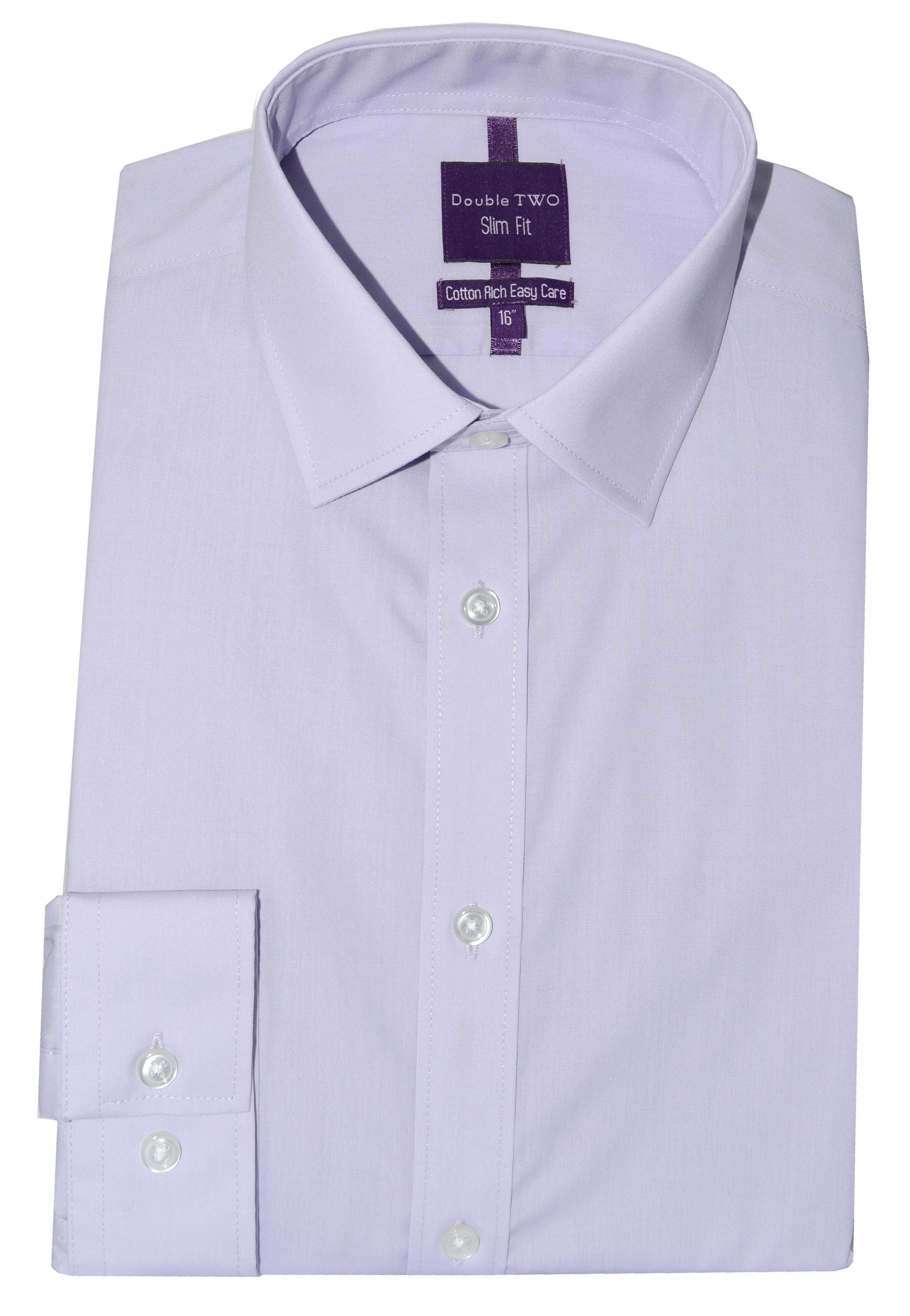 Double Two Men's Double TWO Slim Fit Formal Shirt, Lilac