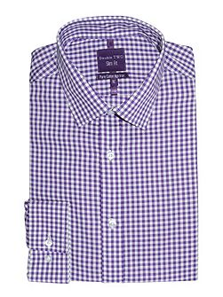 Slim fit double two formal shirt