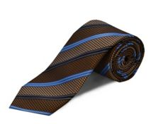 Double TWO Silk stripe tie