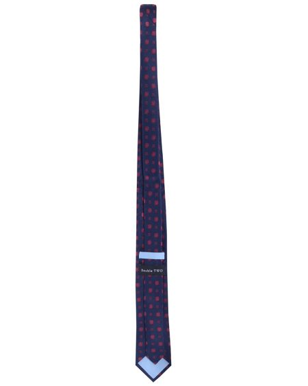 Double TWO Silk patterned tie