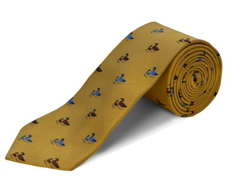 Double TWO Polyester two ducks tie
