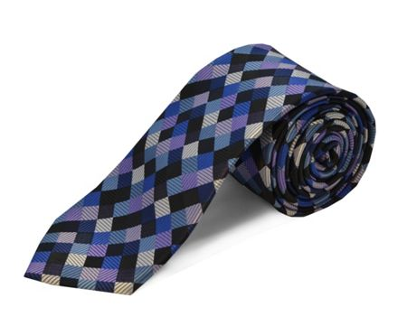Double TWO polyester square tie