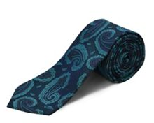 Double TWO polyester paisley tie