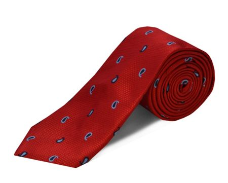 Double TWO polyester mini paisley tie