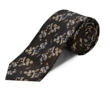 Double TWO Polyester floral tie