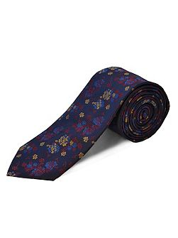 Polyester floral tie