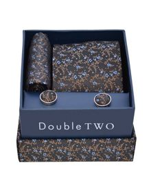 Floral tie and cufflinks set