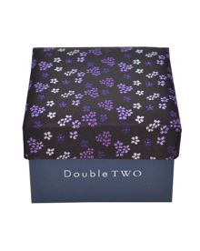 Double TWO Floral tie and cufflinks set