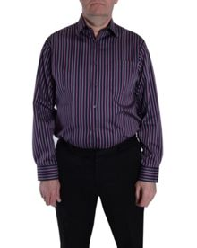 Double TWO King Size Double TWO Stripe Formal Shirt