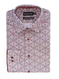 Double TWO Patterned Formal Shirt