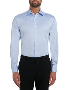 TM Lewin Pinpoint Oxford Prince of Wales shirt