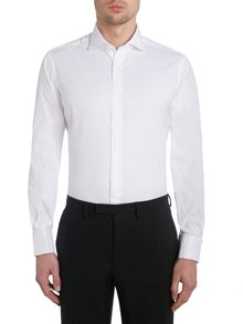 Plain Slim Fit Long Sleeve Cutaway Collar Formal