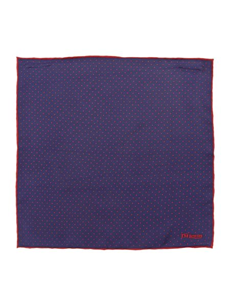 TM Lewin Silk Patterned Handkerchief