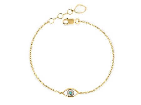 Missoma Ladies silver evil eye trinket bracelet