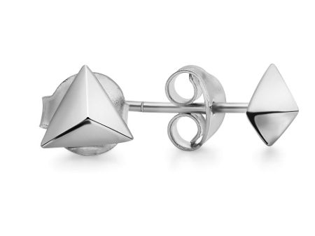 Missoma Ladies silver pyramid stud earrings