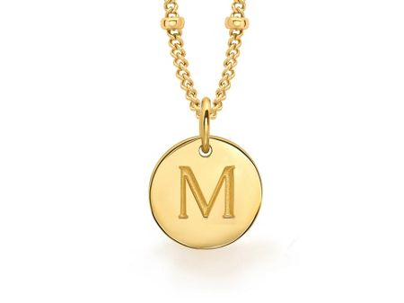 Missoma Ladies gold initial m pendant with beaded chain