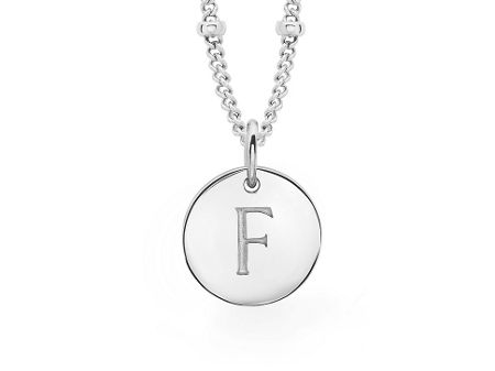 Missoma Ladies silver initial g pendant with beaded chain