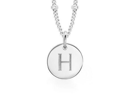 Missoma Ladies silver initial i pendant with beaded chain