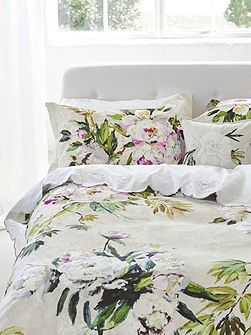Floreale grande embroidered flat sheet