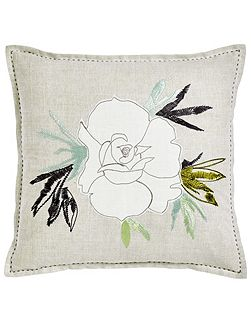 Floreale grande cushion 40x40cm natural