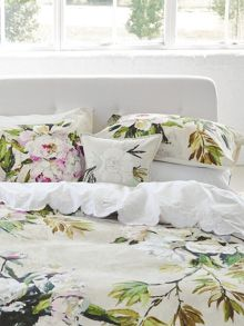 Designers Guild Floreale grande cushion 40x40cm natural