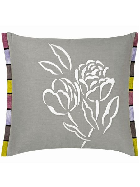 Designers Guild Pomander dove small embroidered cushion