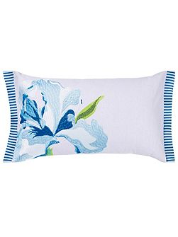 Antoinette wedgewood small embroidered cushion