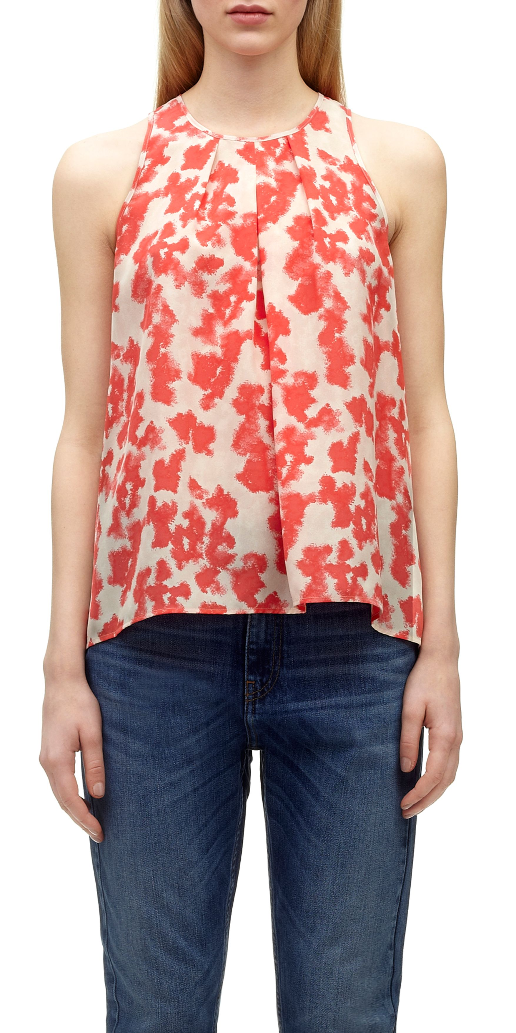 Blotted Floral Swing Top