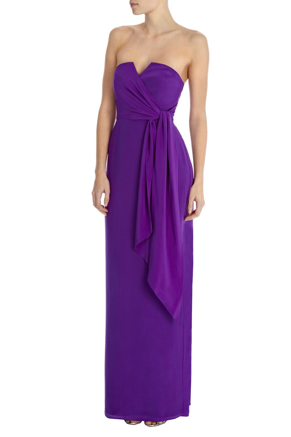 Zuzanna Strapless Silk Maxi Dress