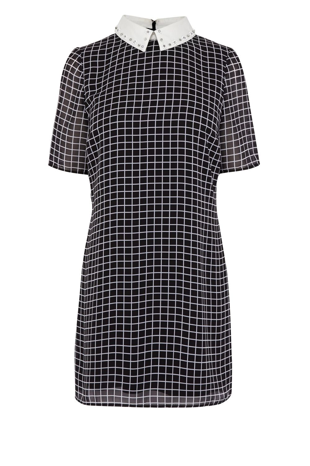 Coast Jaxson check shirt dress, Natural