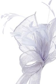 Silver lurex fascinator
