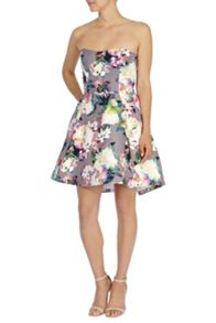Shayla printed bandeau dress