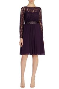 Lori Lee Lace Sleeved Short Dress
