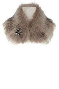 Bonnie brooch faux fur collar