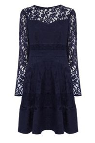 Merinem lace sleeve dress