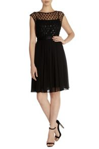 Coast Lori Lee Cluster Short Dress
