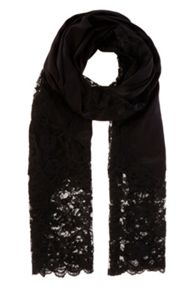 Lace insert scarf
