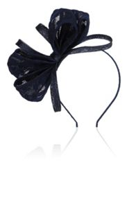 Coast Bow spot mesh fascinator
