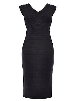 Louise ribbed knit dress